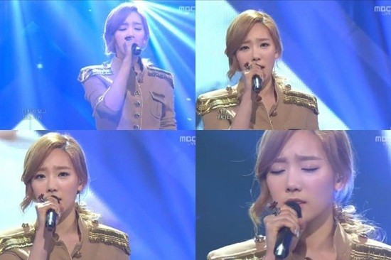 Taeyeon's Special Performance of 'Missing You Like Crazy' on 'Music Core'