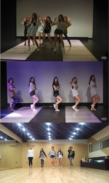 Dal Shabet-Wonder Girls Off Stage Rehearsal Video Hype