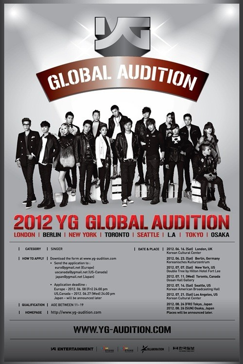 "YG Entertainment Largest Global Audition, ""Next Generation Star Unearthed"""