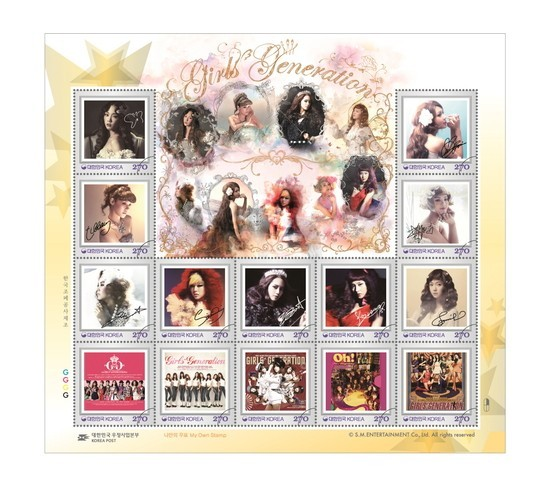 Girls' Generation Stamps To Release Beginning Of August!