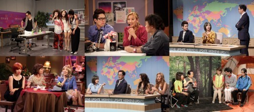 "T-ARA's Eunjung, Bada, Horan Heat Up ""SNL Korea 2"""