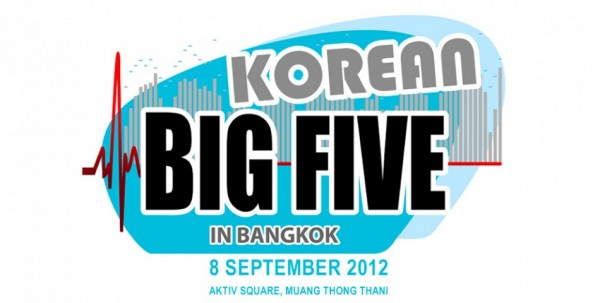 TVXQ, SHINee, BTOB, BEAST and Surprise Artist are Korean Big Five in Bangkok