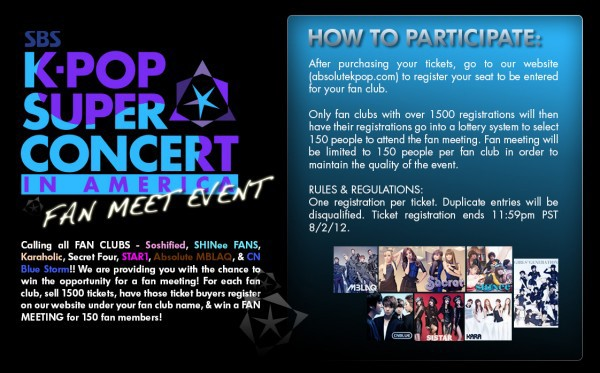 SBS K-Pop Super Concert Fan Meeting Event in America!