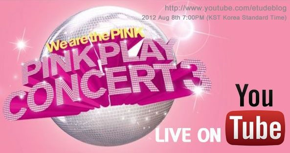 Etude '2012 Pink Play Concert' will be Streamed Live on Youtube!