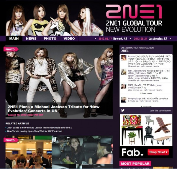 "2NE1 ""New Evolution"" New Jersey Special Coverage Launched!"