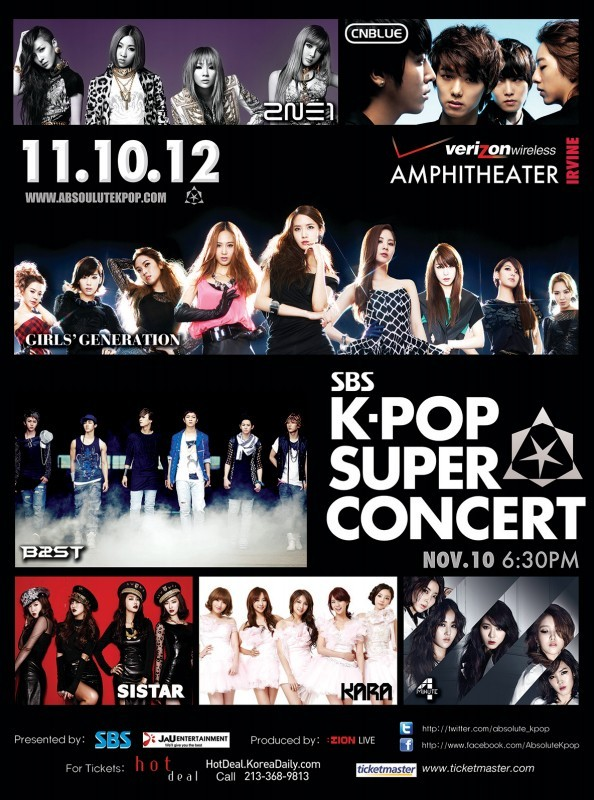SBS K-Pop Super Concert 2012 in America: Tickets to Go On-Sale TODAY!