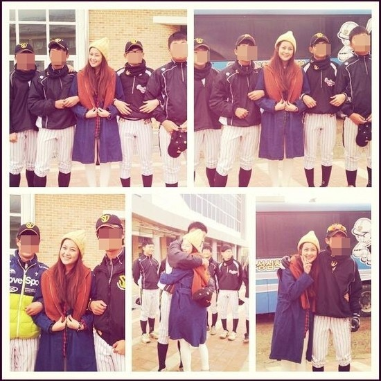 Solbi's Shining Beauty amongst Baseball Player Students