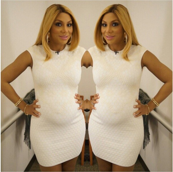 Tamar Braxton shows off her baby bump