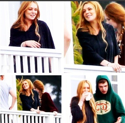 Lindsay Lohan And Rehab Pals Smoking