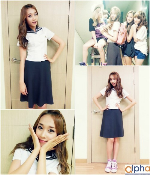 skarf jenny in school uniform