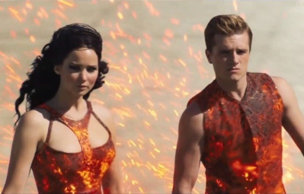 "Jennifer Lawrence and Josh Hutcherson in ""The Hunger Games: Catching Fire!"""