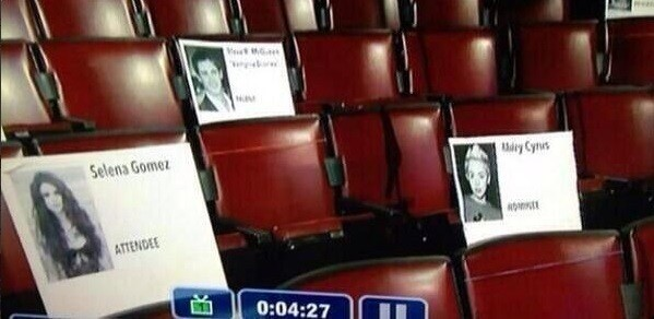 Teen Choice Awards seats reserved for famous celebrities