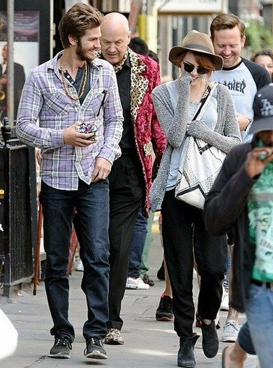 Andrew Garfield and Emma Stone in London