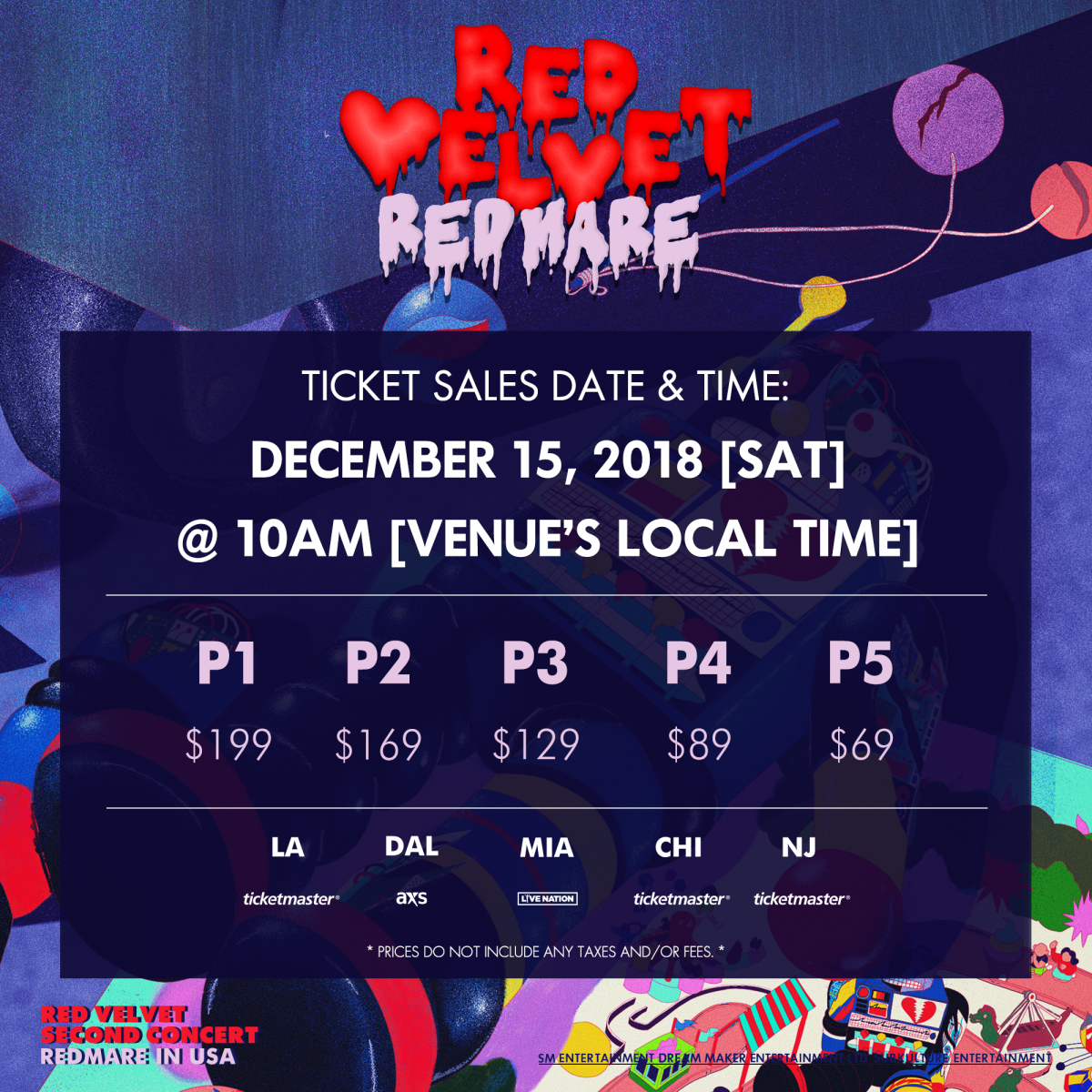 Red Velvet 'REDMARE' U.S. Tour